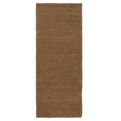 Banded Jute Dark Natural 3 ft. x 12 ft. Rug Runner