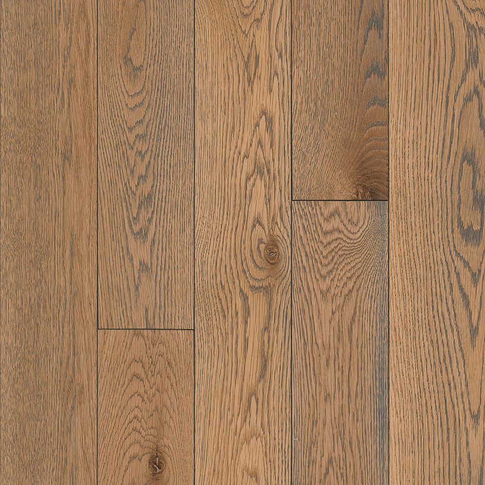 Take Home Sample - Oak Weathered Whisp Gray Solid Hardwood Flooring - 5 in. x 7 in.