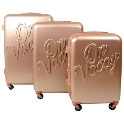 On Vacay 29 in., 25 in., and 21 in. 3-Piece Gold Nested Luggage Set