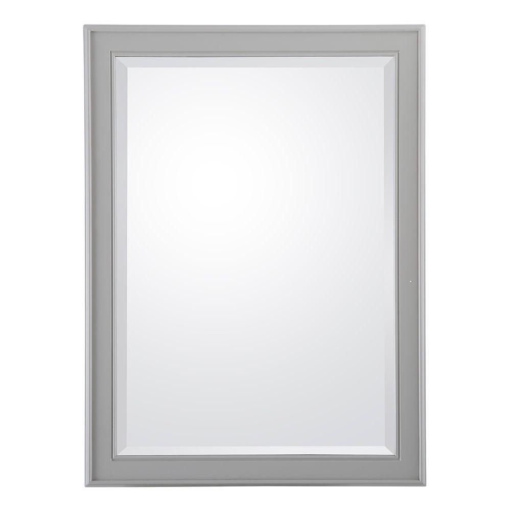 Gazette 24 in. W x 32 in. L Wall Hung Mirror in Grey