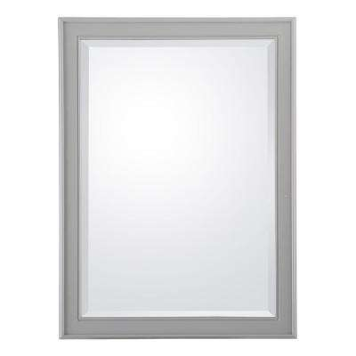 Gazette 24 in. W x 32 in. L Wall Hung Mirror in Grey