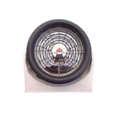Aerodynamic 3 Speed Mini Turbo Fan with 10 in. Blade and Polypropylene Housing, Delivers Over 5000 CFM