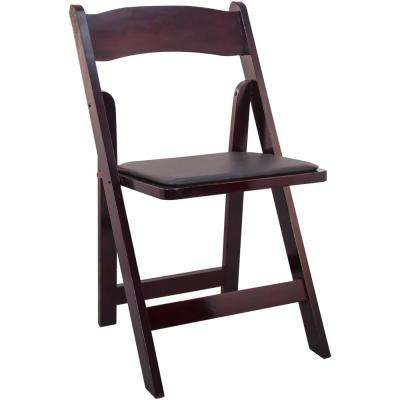 Mahogany Wood Folding Wedding Chair