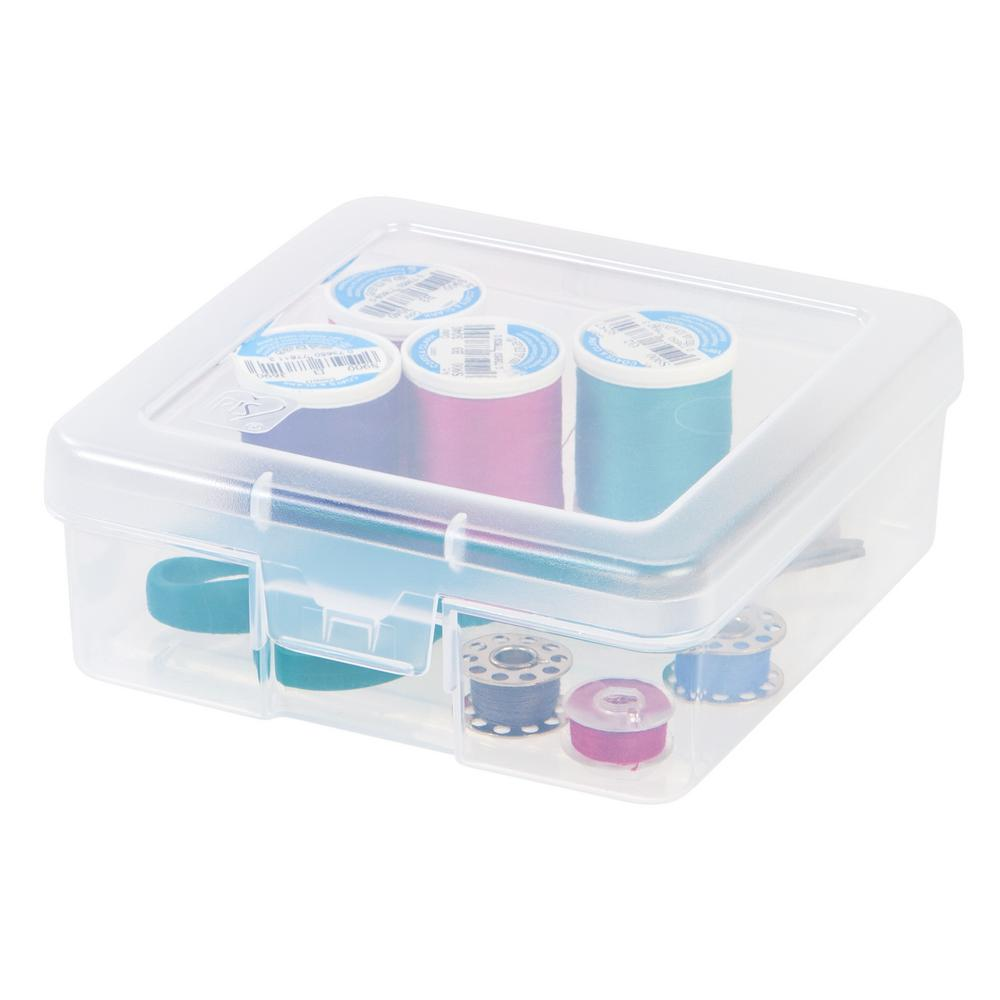 Iris Small Storage Supply Case In Clear 10 Pack 585170 The Home