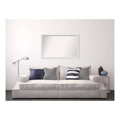 32 in. x 50 in. Blanco White Wood Framed Mirror