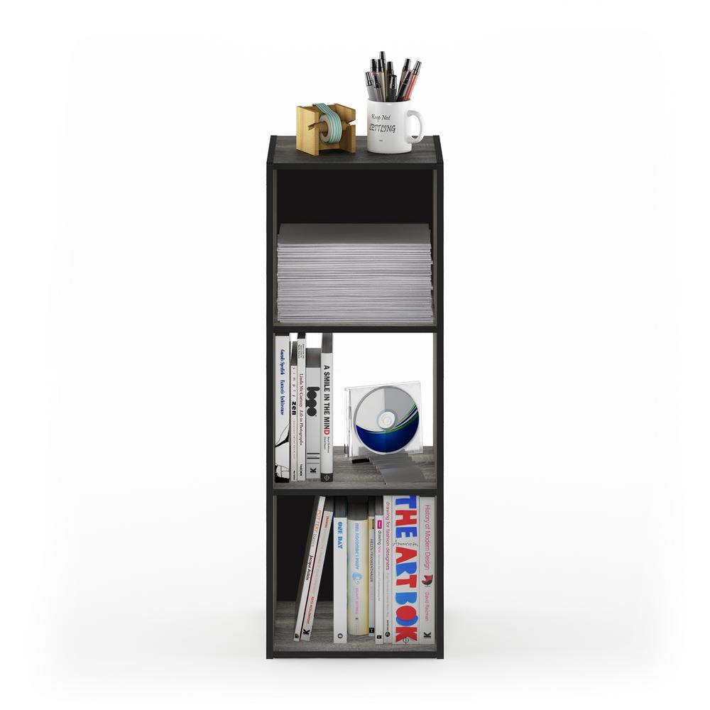 Furinno Pelli French Oak Grey Cubic Storage Cabinet 18050GYW