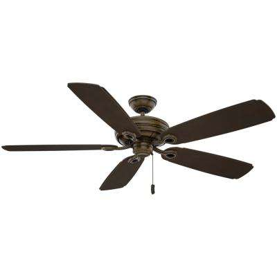 Charthouse 54 in. Outdoor Aged Bronze Ceiling Fan (Motor Only)