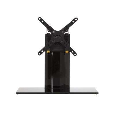 Universal Table Top TV Stand/Base Fixed Position for Most TVs up to 32 in., Black/Black