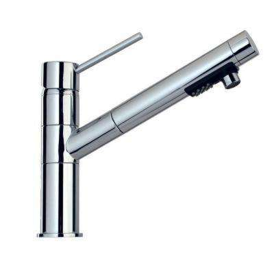 Elba Contemporary Single-Handle Pull-Out Sprayer Kitchen Faucet in Brushed Nickel