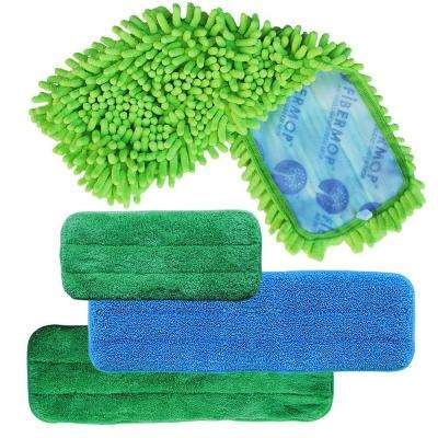 4-in-1 Replacement Microfiber Mop Pad Set for Microfiber Mop Kits