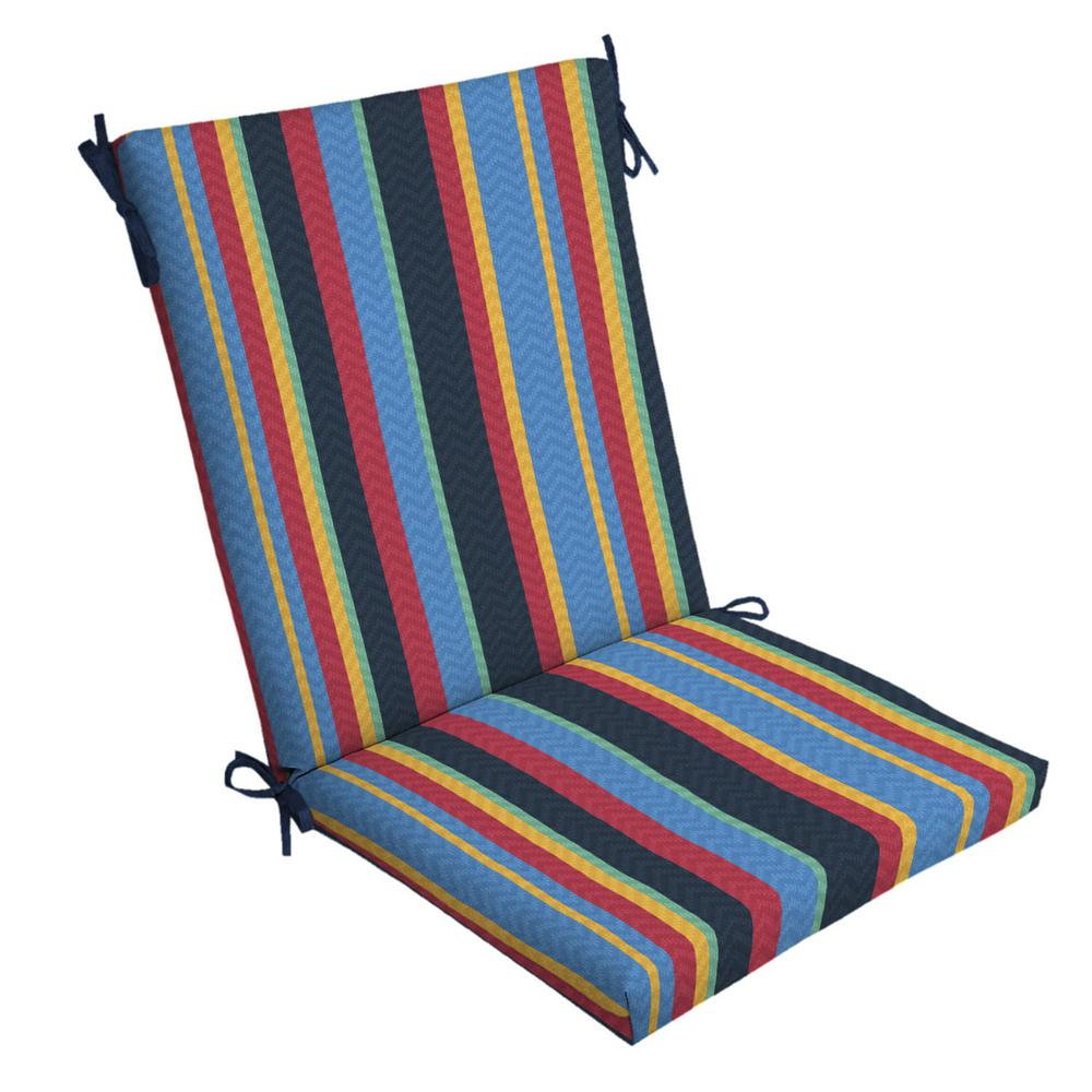 ArdenSelections Arden Selections DriWeave Tuscan Stripe Outdoor Chair Cushion