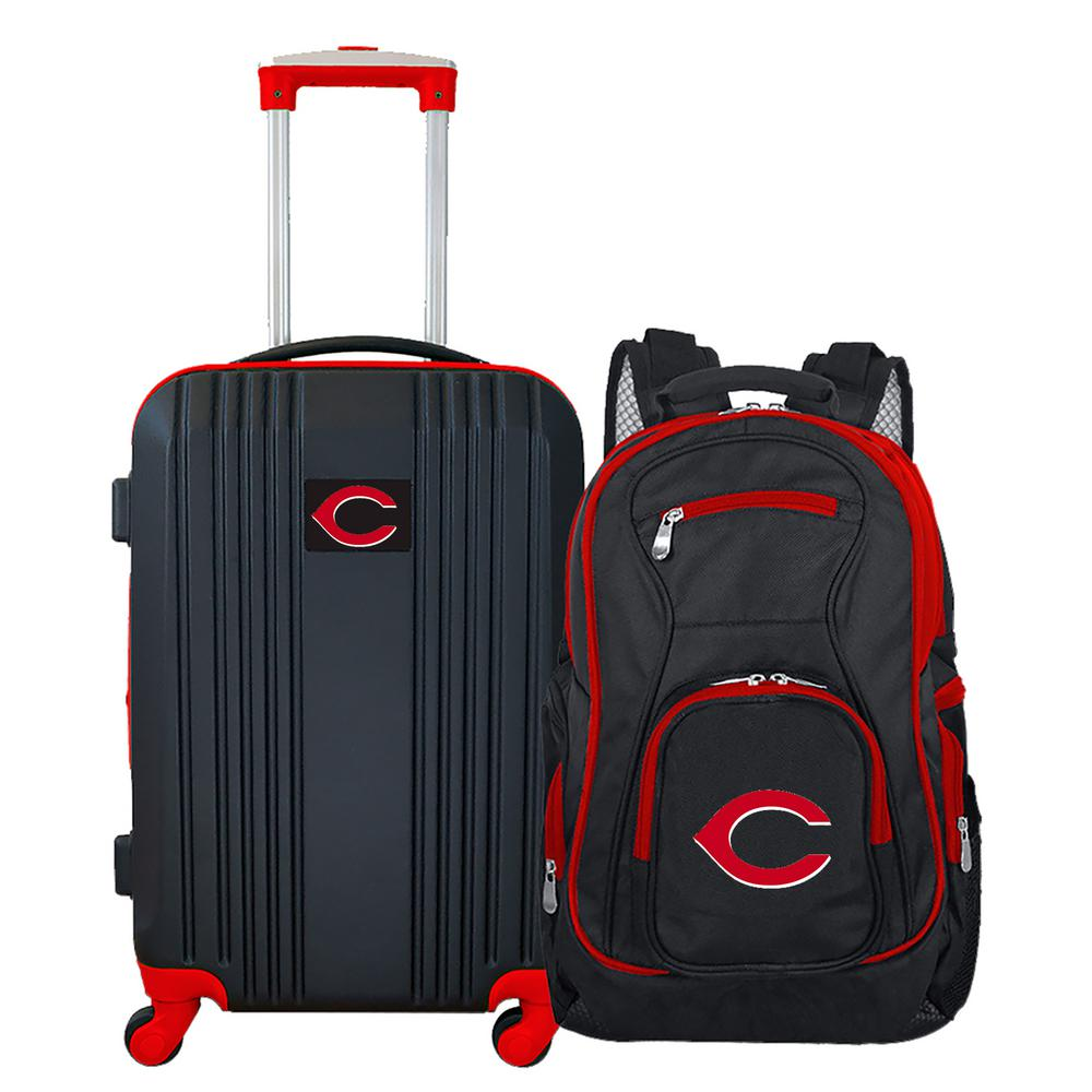 MLB Cincinnati Reds 2-Piece Set Luggage and Backpack