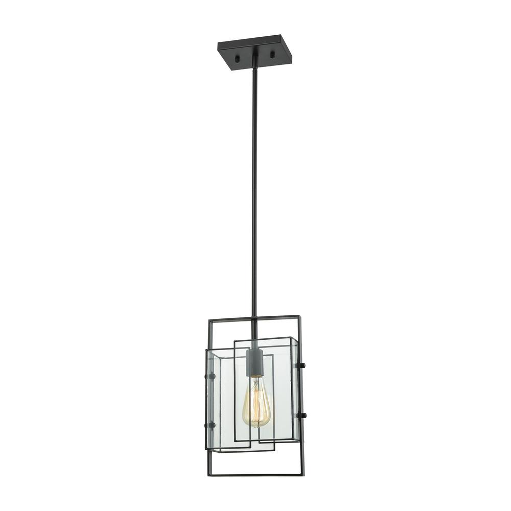 UPC 748119114989 product image for Titan Lighting Stratus 1-Light Oil Rubbed Bronze with Clear Glass Pendant   upcitemdb.com
