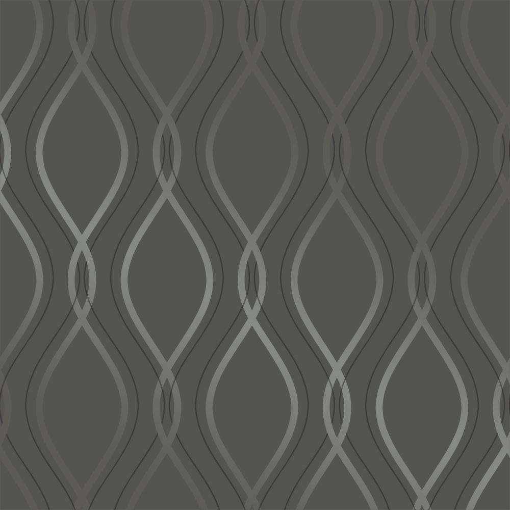 Tempaper Tear Drop Charcoal And Metallic Silver Self Adhesive Removable Wallpaper