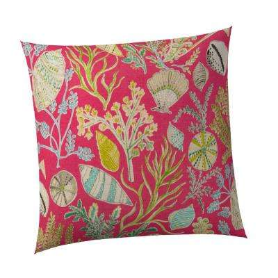 South Beach Square Outdoor Throw Pillow