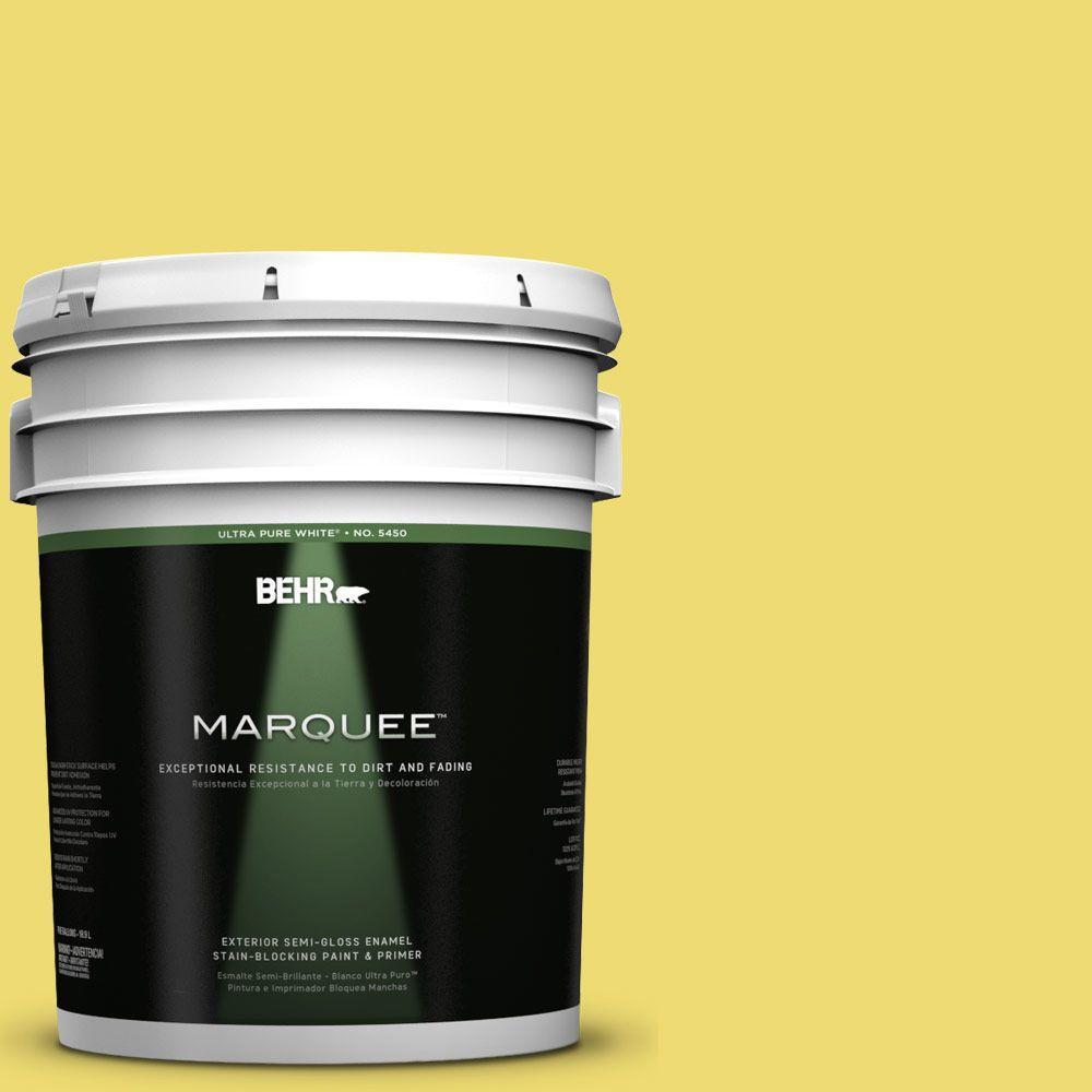 5-gal. #T15-15 Plastic Lime Semi-Gloss Enamel Exterior Paint