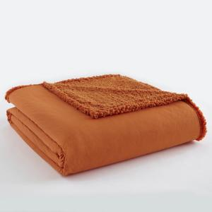Spice Sherpa Back Polyester Queen Blanket