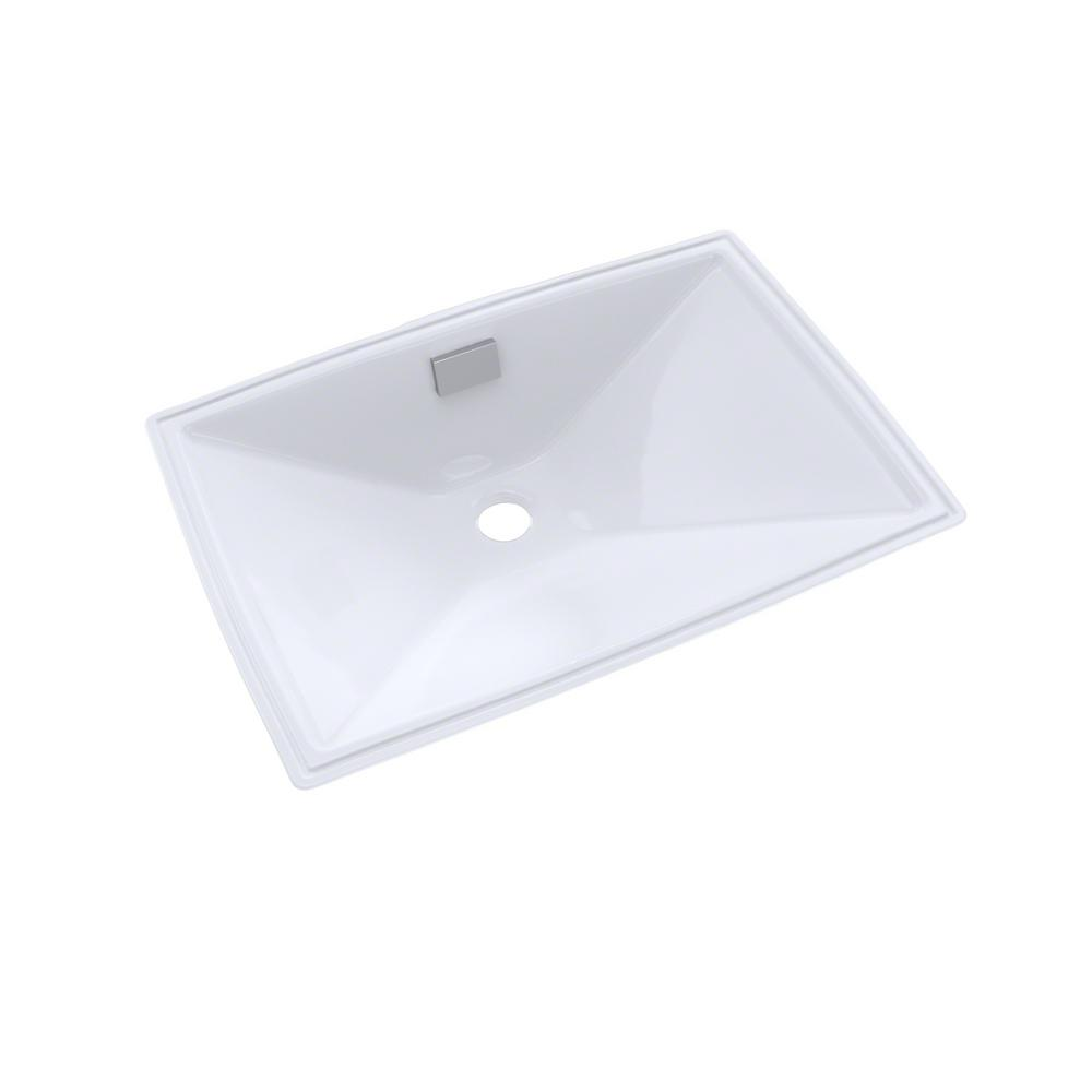 Toto Lloyd 21 In Undermount Bathroom Sink In Cotton White Lt931 01 The Home Depot