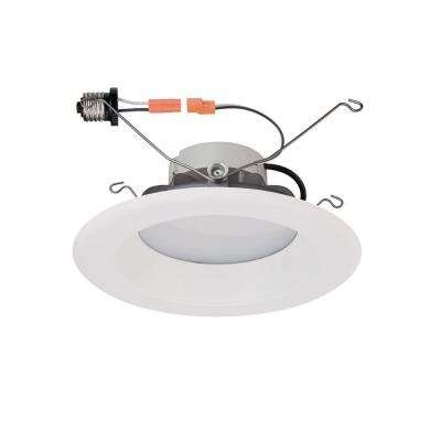 6 in. White LED Recessed High Ceiling Trim