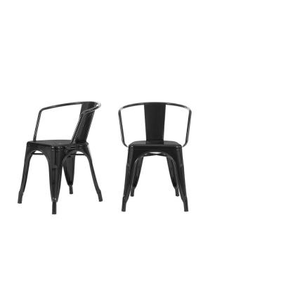 StyleWell Black Metal Dining Chair (Set of 2) (20.28 in. W x 28.35.95 in. H)