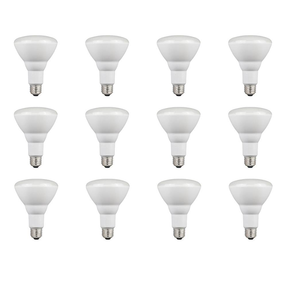 65W Equivalent Warm White BR30 Dimmable LED Flood Light Bulb (12-Pack)