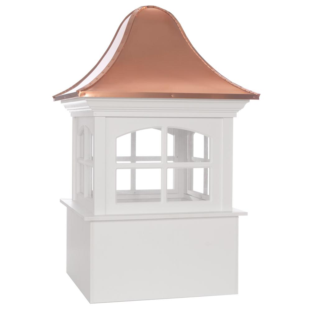 Greenwich Vinyl Cupola with Copper Roof 48 in. x 78 in.