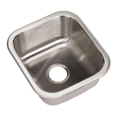 Club Series Undermount Stainless Steel 16 in. Square Single Bowl Kitchen Sink in Lustrous Satin