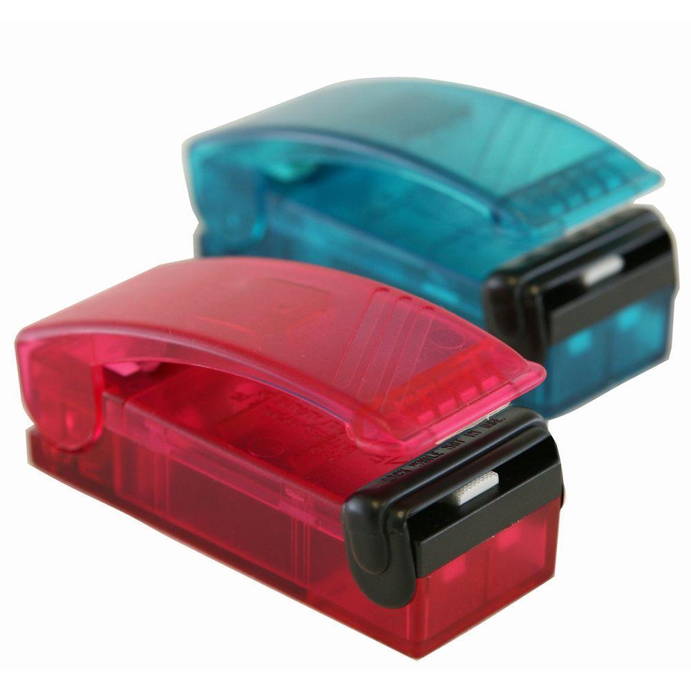 Red and Blue Handheld Vacuum Sealer Set (2-Pack)
