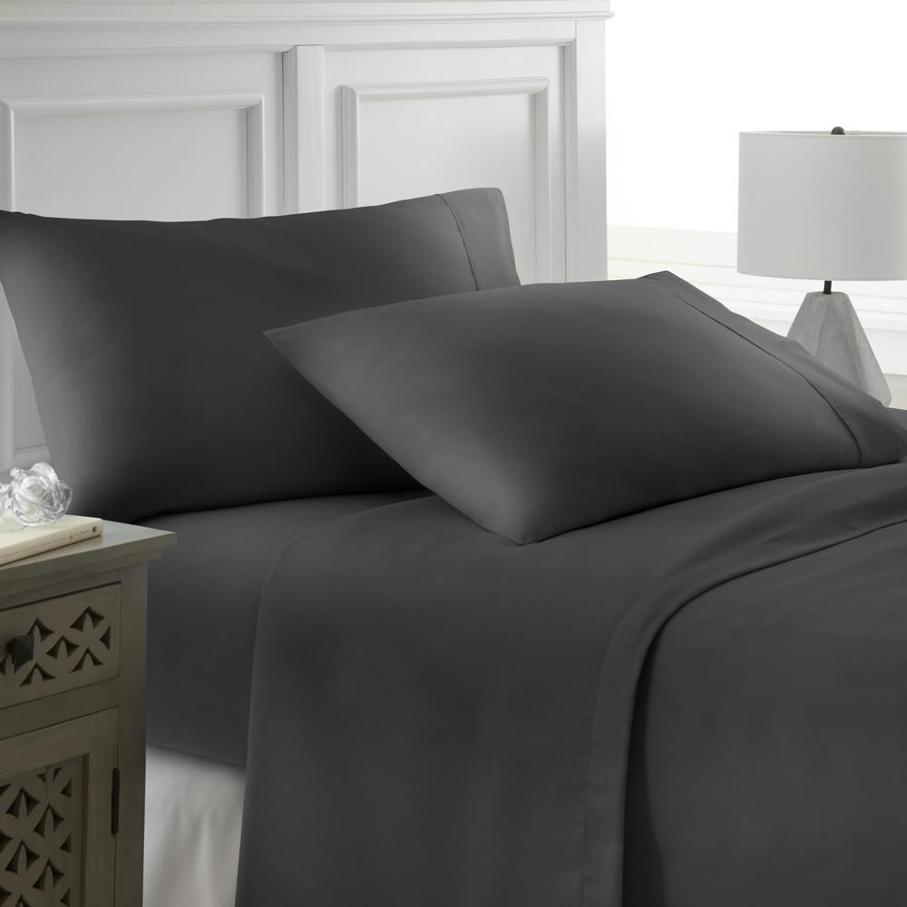 Becky Cameron Performance Black Queen 4 Piece Bed Sheet Set