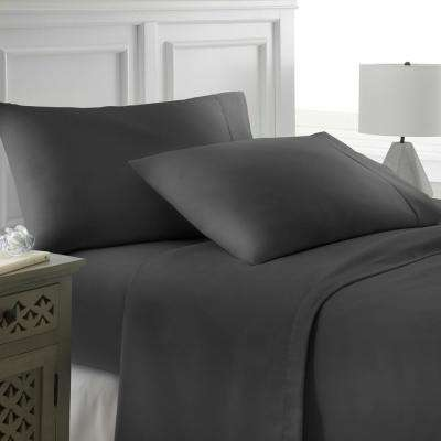 Performance Black Queen 4-Piece Bed Sheet Set