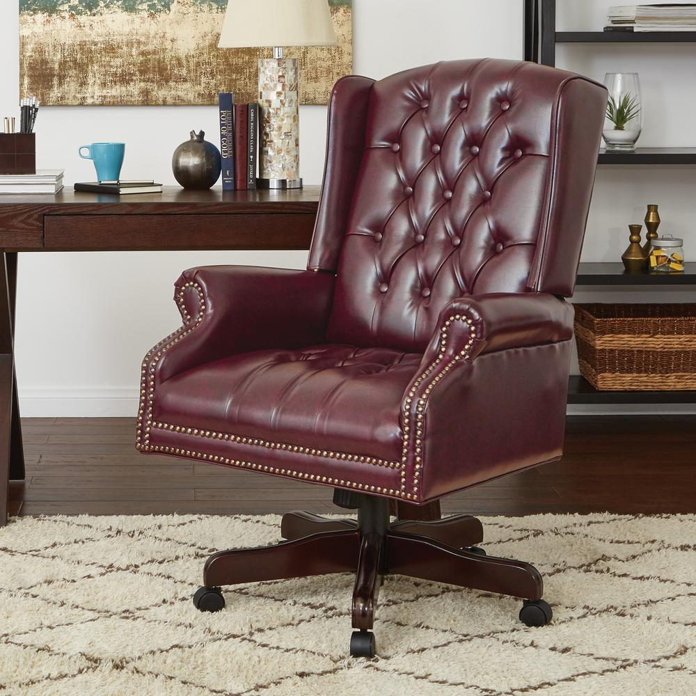 Work Smart Deluxe High Back Traditional Executive Chair