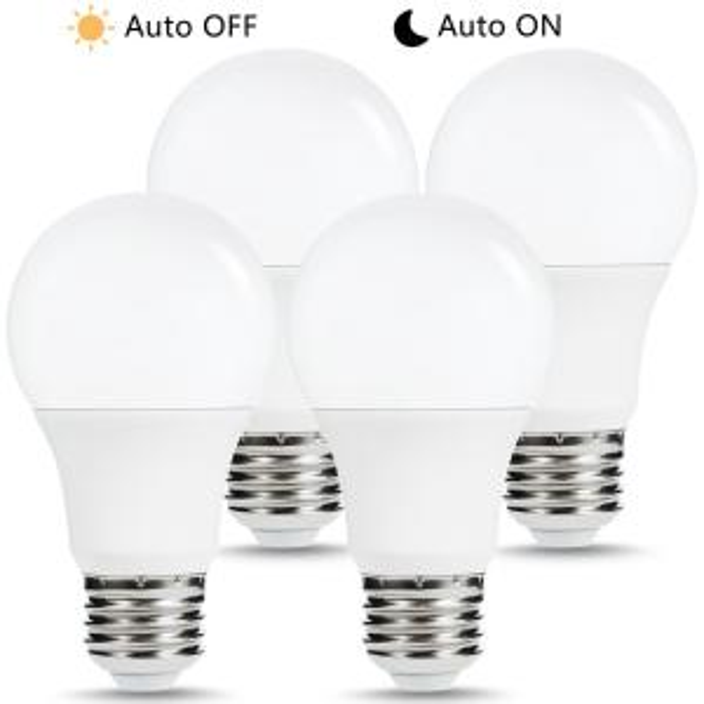 Auto On//Off Photocell Sensor Sunco Lighting 10 Pack A19 LED Bulb with Dusk-to-Dawn 5000K Daylight 9W=60W UL /& Energy Star