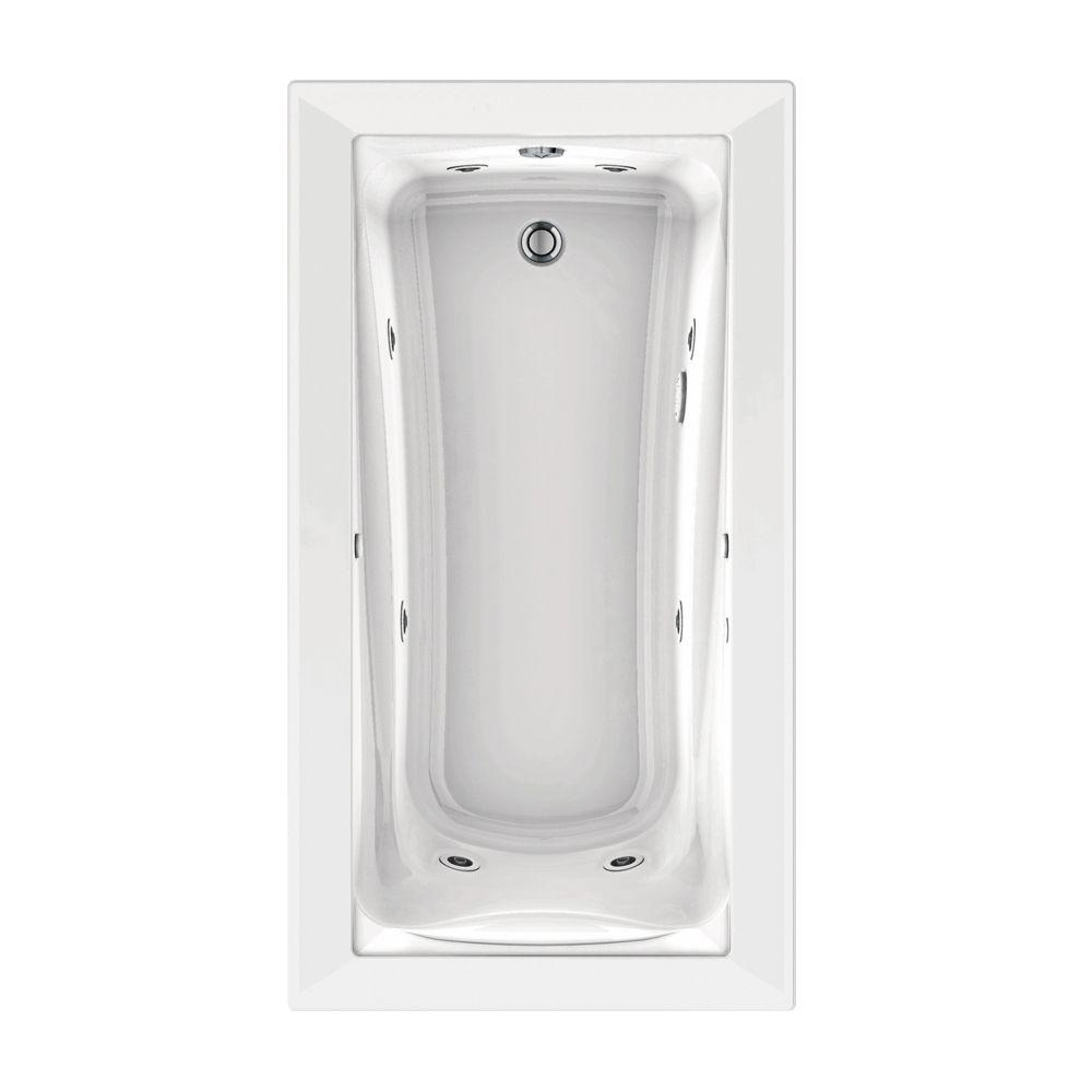 Green Tea 66 in. x 36 in. Reversible Drain EcoSilent EverClean