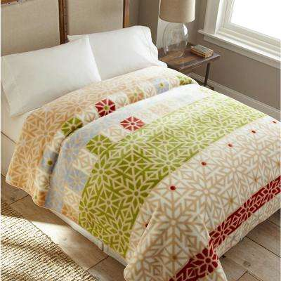 High Pile Celebration Raschel Knit Coverlet