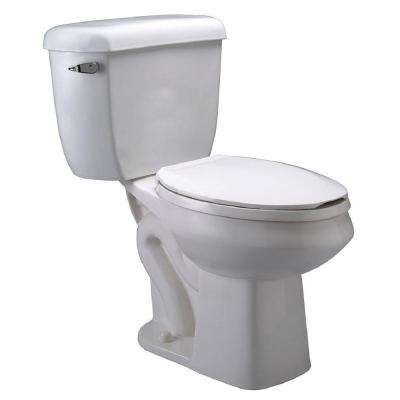 EcoVantage 2-piece 1.6 GPF/1.1 GPF Dual Flush Elongated Pressure Assist Toilet in White