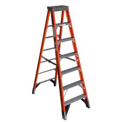 7 ft. Fiberglass Step Ladder with 375 lb. Load Capacity Type IAA Duty Rating