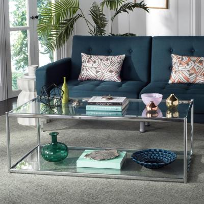 Zola Glass/Chrome Coffee Table