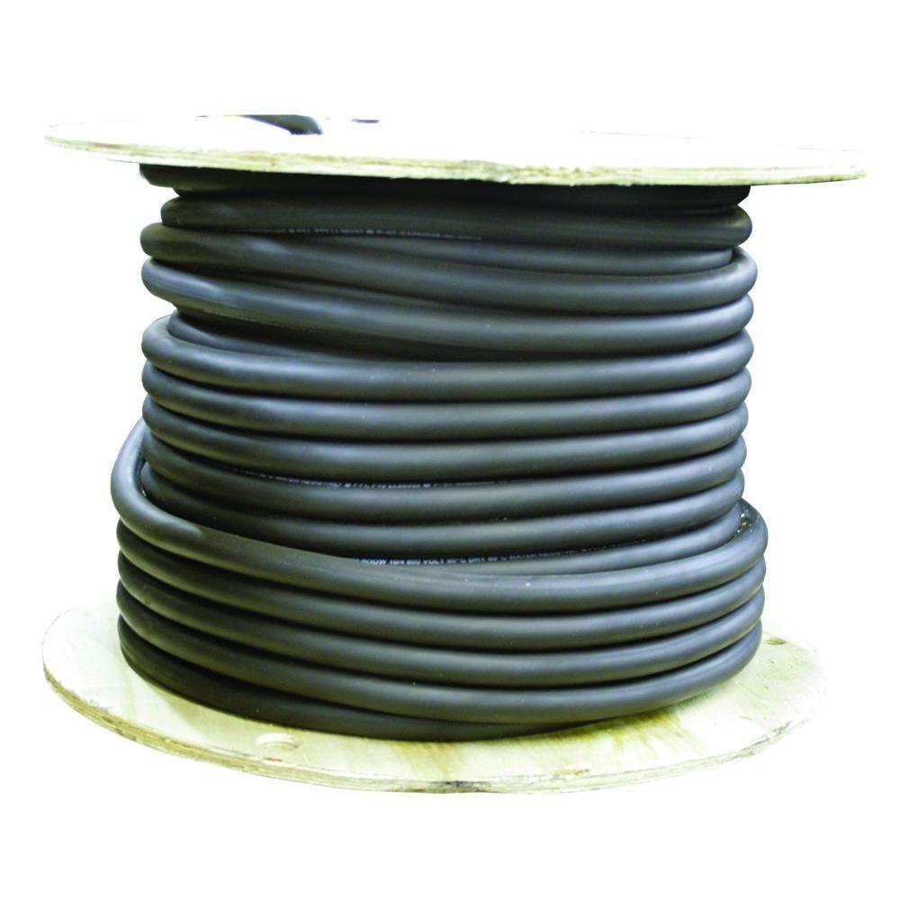 250 ft. 10/4 300-Volt CU Black Flexible Portable Power SJOOW Cord