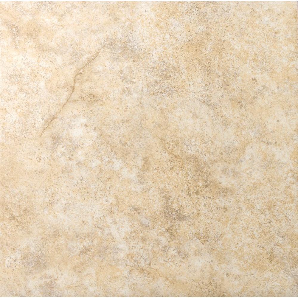 Toledo Beige 17 in. x 17 in. Ceramic Floor and Wall Tile (16.56 sq. ft. / case)