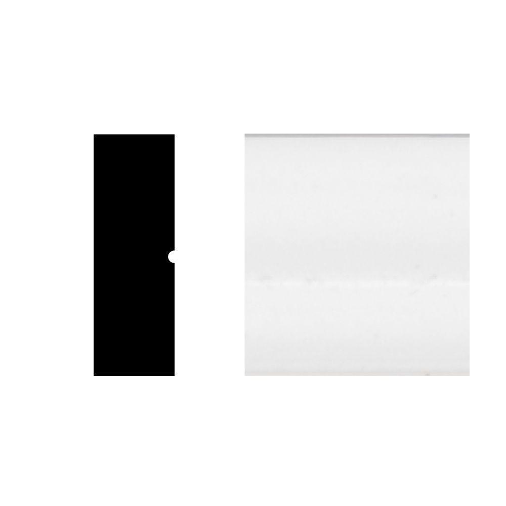 2304 1/4 in. x 3/4 in. x 8 ft. PVC White Screen Moulding
