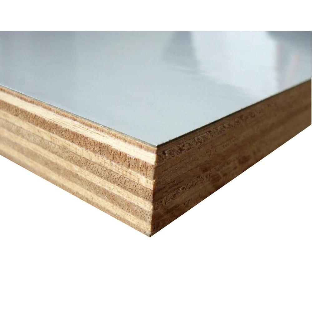 3/4 in. x 12 in. x 8 ft. EB1S White High-Pressure Laminate Plywood ...