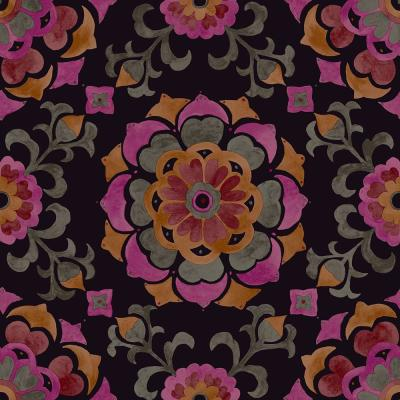 56.4 sq. ft. Tracy Multicolor Medallion Strippable Wallpaper