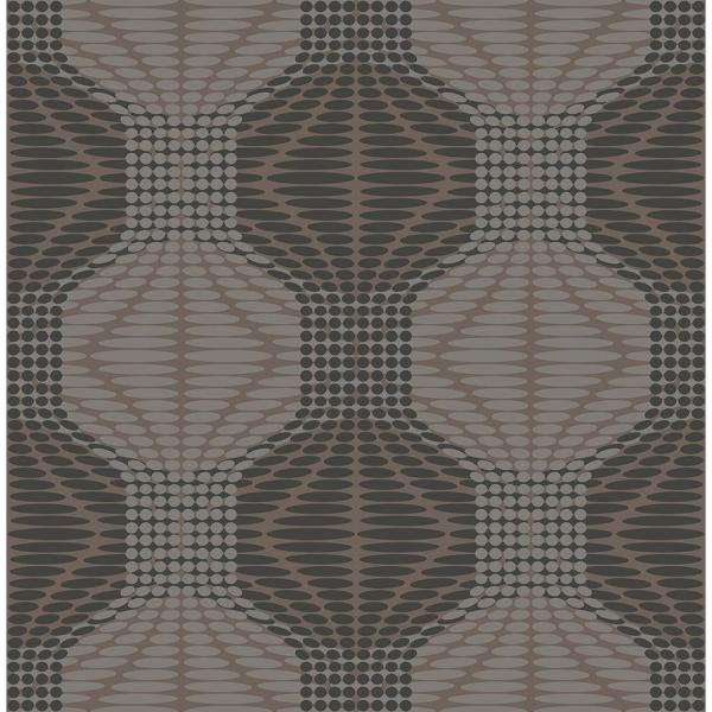 A-Street Optic Brown Geometric Wallpaper 2697-22634