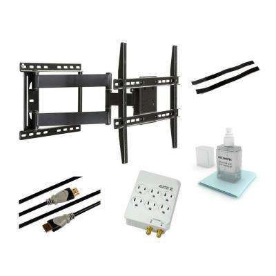 Full Motion Articulating Steel Wall Mount Kit for 37 in. to 64 in. Flat Panel TVs - Black