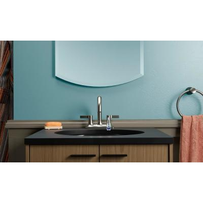 Venza 4 in. Centerset 2-Handle Bathroom Faucet in Vibrant Brushed Nickel