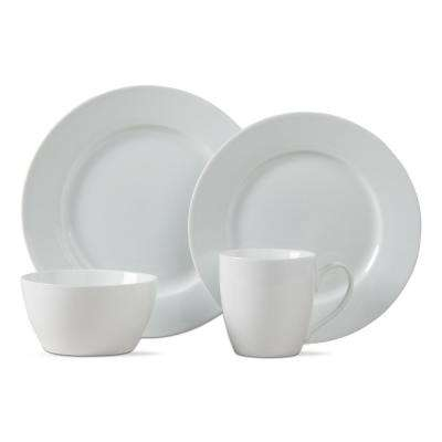 Bliss 16-Piece White Dinnerware Set