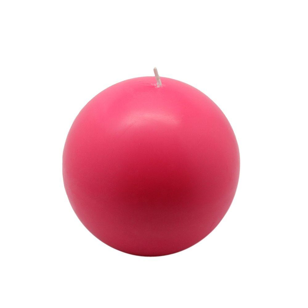 4 in. Hot Pink Ball Candles (2-Box)