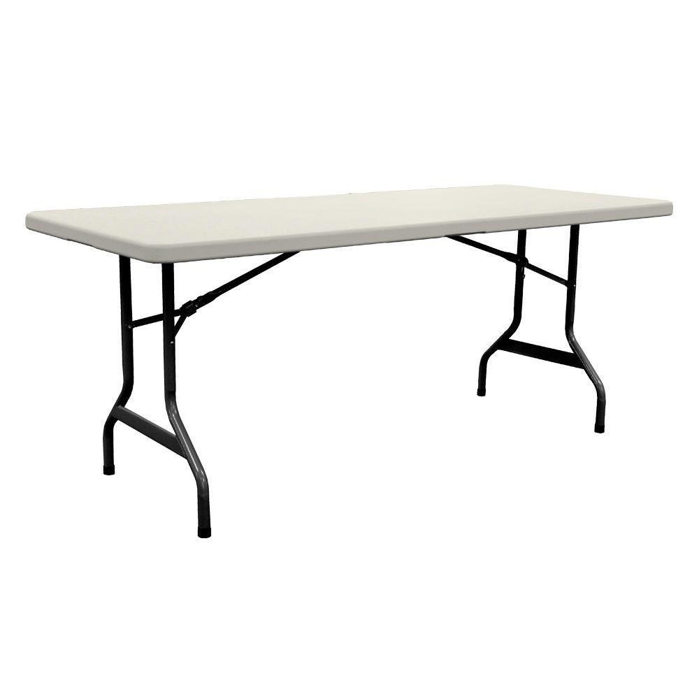 Enduro 72 in. Earth Tan Plastic Folding Banquet Table