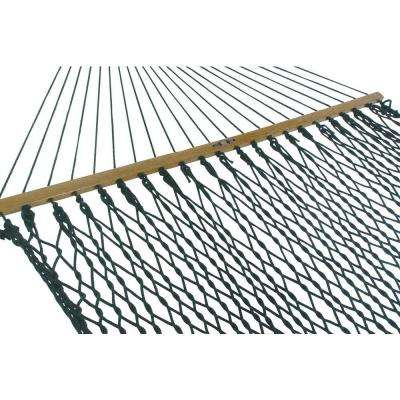 55 in. W x 82 in. L Green DuraCord Rope Hammock