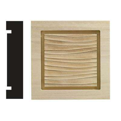 Wave Collection 1-3/16 in. x 5-1/2 in. x 5-1/2 in. White Hardwood Casing Door and Window Corner Block Moulding